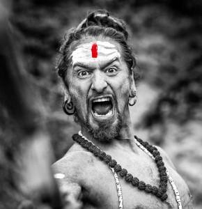 angry yogi