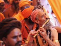 sadhu with flute