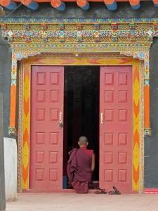 door and monk