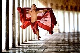 monk flying
