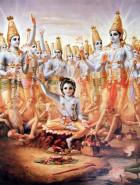 Vishnu and Krishan