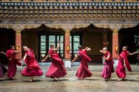 monks dancing