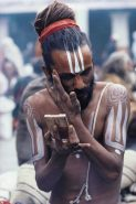 sadhu with mirror